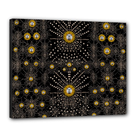 Lace Of Pearls In The Earth Galaxy Pop Art Canvas 20  X 16
