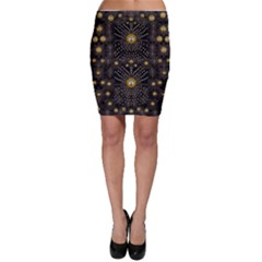 Lace Of Pearls In The Earth Galaxy Pop Art Bodycon Skirt