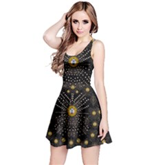 Lace Of Pearls In The Earth Galaxy Pop Art Reversible Sleeveless Dress