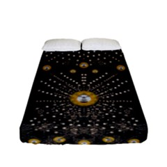 Lace Of Pearls In The Earth Galaxy Pop Art Fitted Sheet (full/ Double Size)