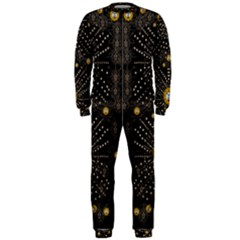 Lace Of Pearls In The Earth Galaxy Pop Art OnePiece Jumpsuit (Men)