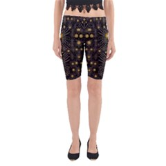 Lace Of Pearls In The Earth Galaxy Pop Art Yoga Cropped Leggings