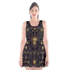 Lace Of Pearls In The Earth Galaxy Pop Art Scoop Neck Skater Dress