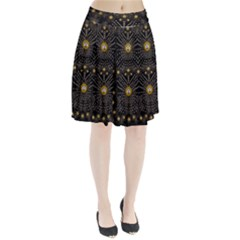 Lace Of Pearls In The Earth Galaxy Pop Art Pleated Skirt