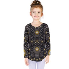 Lace Of Pearls In The Earth Galaxy Pop Art Kids  Long Sleeve Tee