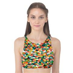Geometric Print Designs 1 Tank Bikini Top