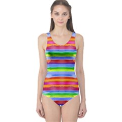 Stripes Print Designs 3 One Piece Swimsuit