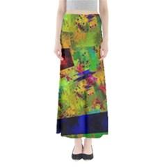 Green paint        Women s Maxi Skirt