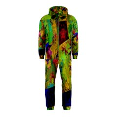 Green paint             Hooded Jumpsuit (Kids)