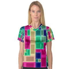 Rectangles and squares              Women s V-Neck Sport Mesh Tee