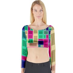 Rectangles and squares              Long Sleeve Crop Top