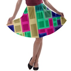 Rectangles and squares              A-line Skirt