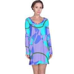 Purple blue shapes              nightdress