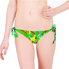 Colorful painting on a green background              Bikini Bottom