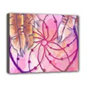 Watercolor cute dreamcatcher with feathers background Deluxe Canvas 20  x 16   View1