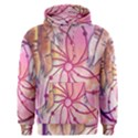 Watercolor cute dreamcatcher with feathers background Men s Pullover Hoodie View1