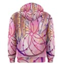 Watercolor cute dreamcatcher with feathers background Men s Pullover Hoodie View2