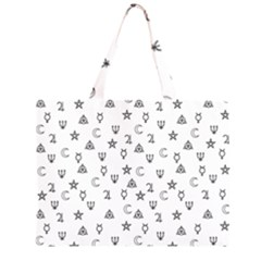 Witchcraft symbols  Large Tote Bag