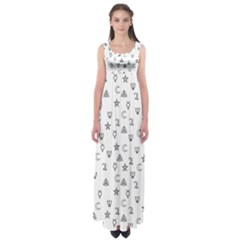 Witchcraft symbols  Empire Waist Maxi Dress
