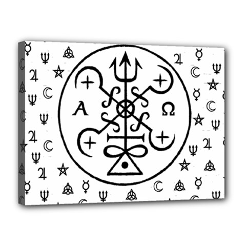 Witchcraft symbols  Canvas 16  x 12