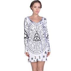 Witchcraft Symbols  Long Sleeve Nightdress