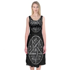 Witchcraft symbols  Midi Sleeveless Dress