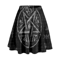 Witchcraft symbols  High Waist Skirt