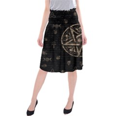 Witchcraft symbols  Midi Beach Skirt