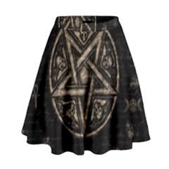 Witchcraft symbols  High Waist Skirt