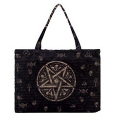 Witchcraft symbols  Medium Zipper Tote Bag