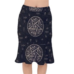 Witchcraft Symbols  Mermaid Skirt