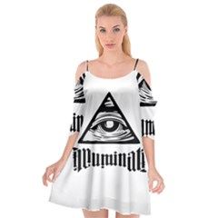 Illuminati Cutout Spaghetti Strap Chiffon Dress