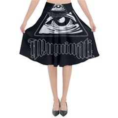 Illuminati Flared Midi Skirt