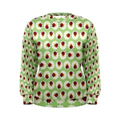 Ladybugs Pattern Women s Sweatshirt
