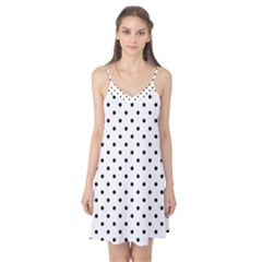 Classic Large Black Polkadot on White Camis Nightgown