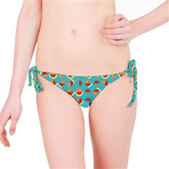 Semicircles And Arcs Pattern Bikini Bottom