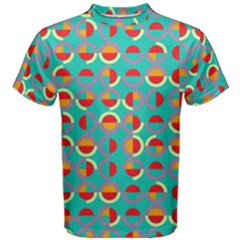 Semicircles And Arcs Pattern Men s Cotton Tee