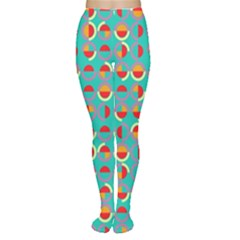 Semicircles And Arcs Pattern Women s Tights