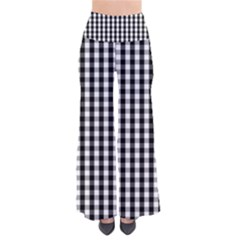 Small Black White Gingham Checked Square Pattern Pants