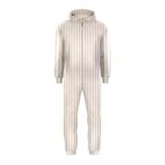 Soft Peach Pinstripe On White Hooded Jumpsuit (kids)