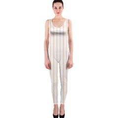 Soft Peach Pinstripe on White OnePiece Catsuit