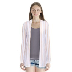 Soft Peach Pinstripe on White Cardigans