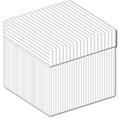 Dove Grey Pin Stripes on White Storage Stool 12