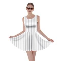 Dove Grey Pin Stripes on White Skater Dress