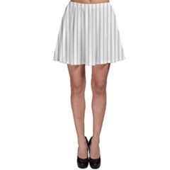 Dove Grey Pin Stripes on White Skater Skirt