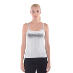 Dove Grey Pin Stripes on White Spaghetti Strap Top