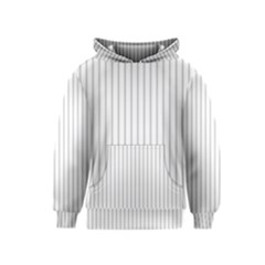 Dove Grey Pin Stripes on White Kids  Pullover Hoodie