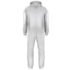 Dove Grey Pin Stripes on White Hooded Jumpsuit (Men)