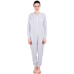 Dove Grey Pin Stripes on White OnePiece Jumpsuit (Ladies)