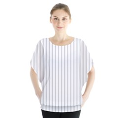 Dove Grey Pin Stripes on White Blouse